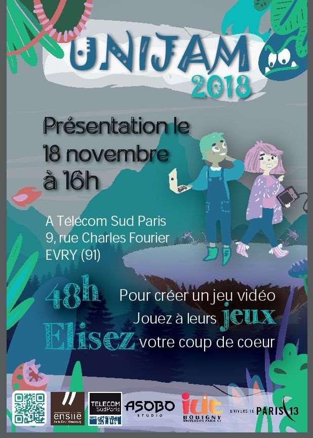 Affiche UniJam 2018